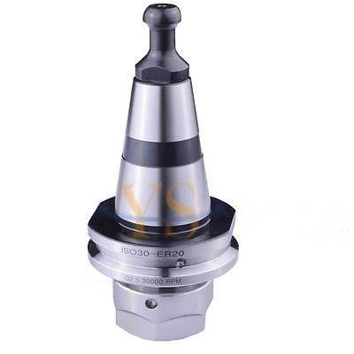 ISO30 ER20 M12 G2.5 30,000rpm precision balance collet chuck holder ISO30, HSD New+1pcs ISO30 Pull stud M12 цена