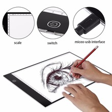 A4 LED Tracing Board Light Box Stencil Drawing Thin Pad Table for Tattoo Art Artist