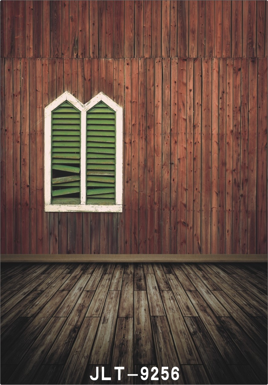 Retro Wooden Wall Children's Portrait Photography Backdrops Digital - Camera and Photo