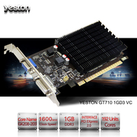 Yeston GeForce GT 710 GPU 1GB GDDR3 64 Bit Gaming Desktop Computer PC Video Graphics Cards