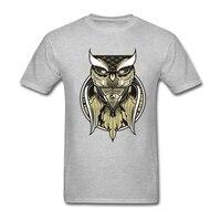 인쇄 고딕 록 셔츠 남성 100% 면 일루미나티 피라미드 올빼미 눈 의 보는 남성 셔츠 모든 보는 눈 t 셔츠 남성