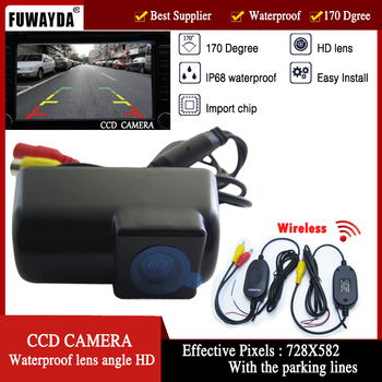 FUWAYDA Wireless Car Rear View Reverse High Quality DVD GPS Navigation Kits Color CMOS CAMERA for FORD TRANSIT CONNECT image