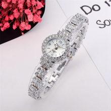 Fashion women watch with diamond dial gold watch ladies top luxury brand ladies exquisite bracelet watch relogio feminino #C