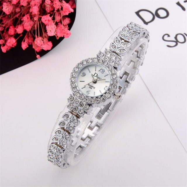 Fashion women watch with diamond dial gold watch ladies top luxury brand ladies