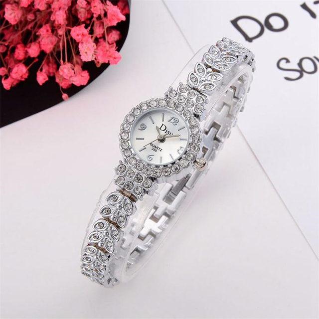 Fashion women watch with diamond dial gold watch ladies top luxury brand ladies