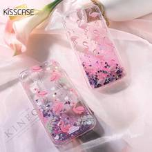 KISSCASE Flamingo Quicksand Bling Cases For iPhone 6S 6 S 7 Plus X 10 Case Liquid Girly Silicon Back Cover For iPhone X Coque