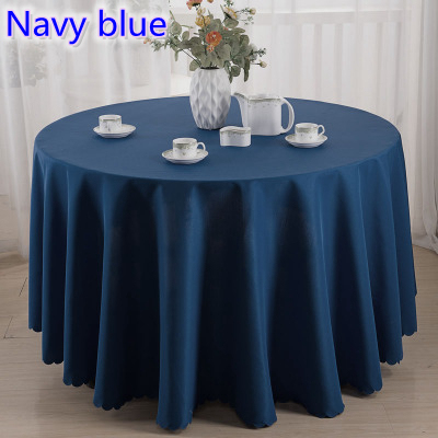 Navy Blue Dark Blue Colour Table Cloth Party Table Linen For Wedding Hotel  And Restaurant Round