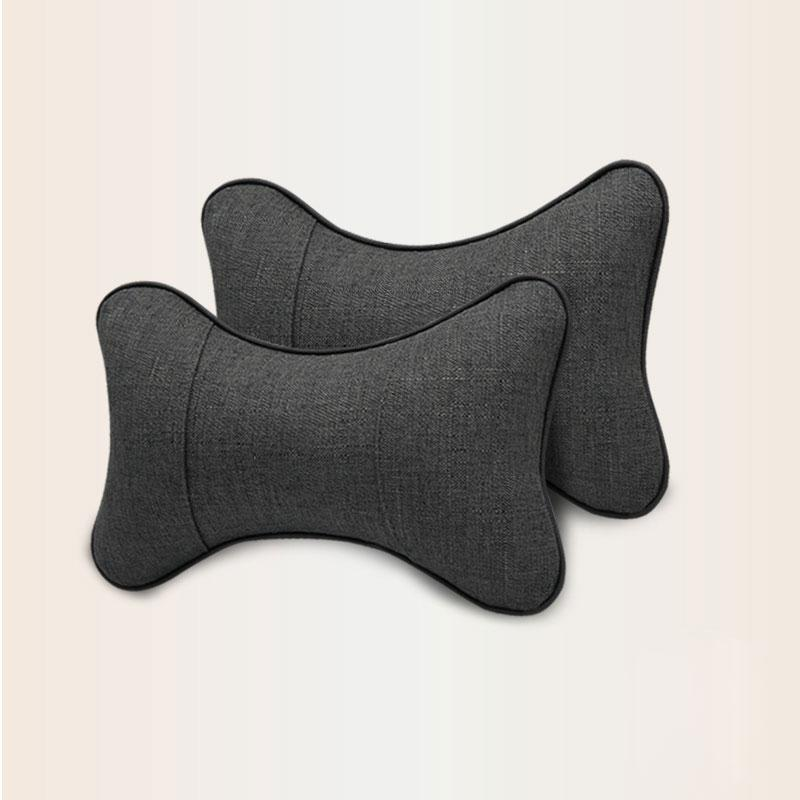 Adeeing 2 Pcs Universal Car Seat Neck Rest Pillow For Four Seasons Breathable Comfortable Car Head Support Pillows