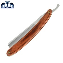 Grandslam fodrász egyenes borotválkozó borotva lehajtható kése férfi borotválkozás szakáll eszköz fa fogantyú Design Logo Blade