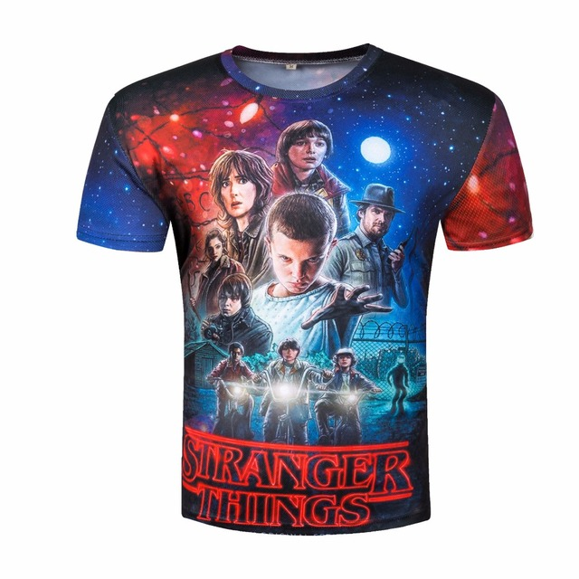 The New Stranger Things 3 D T Shirt Man's 3d Short Sleeve Tshirts Summer. by Zootop Bear