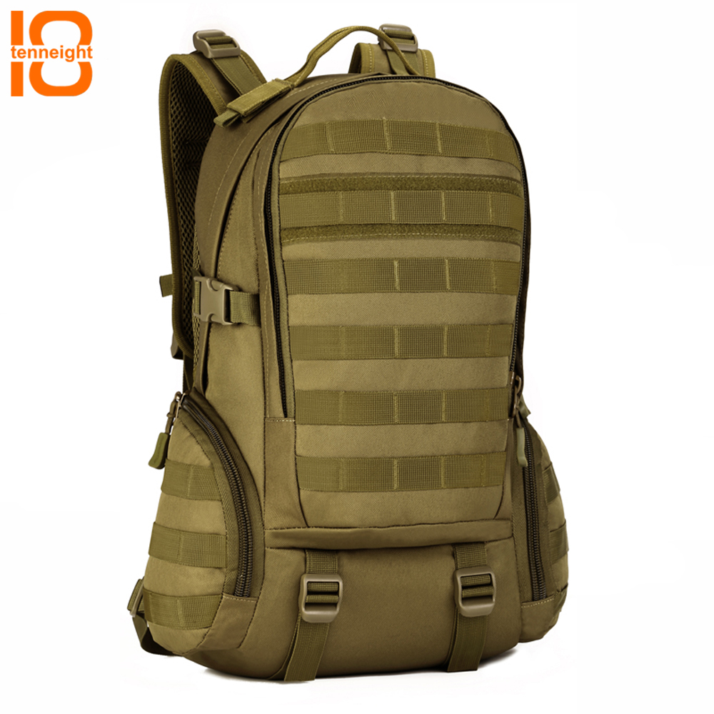 TENNEIGHT 35L Military Tactical Backpack Camping Rucksack 14 Inches Laptop Molle Backpack Waterproof Hiking climbing backpack sinairsoft 14 inch laptop tactical molle military backpack 800d nylon sports bag camping hiking waterproof men travel backpack
