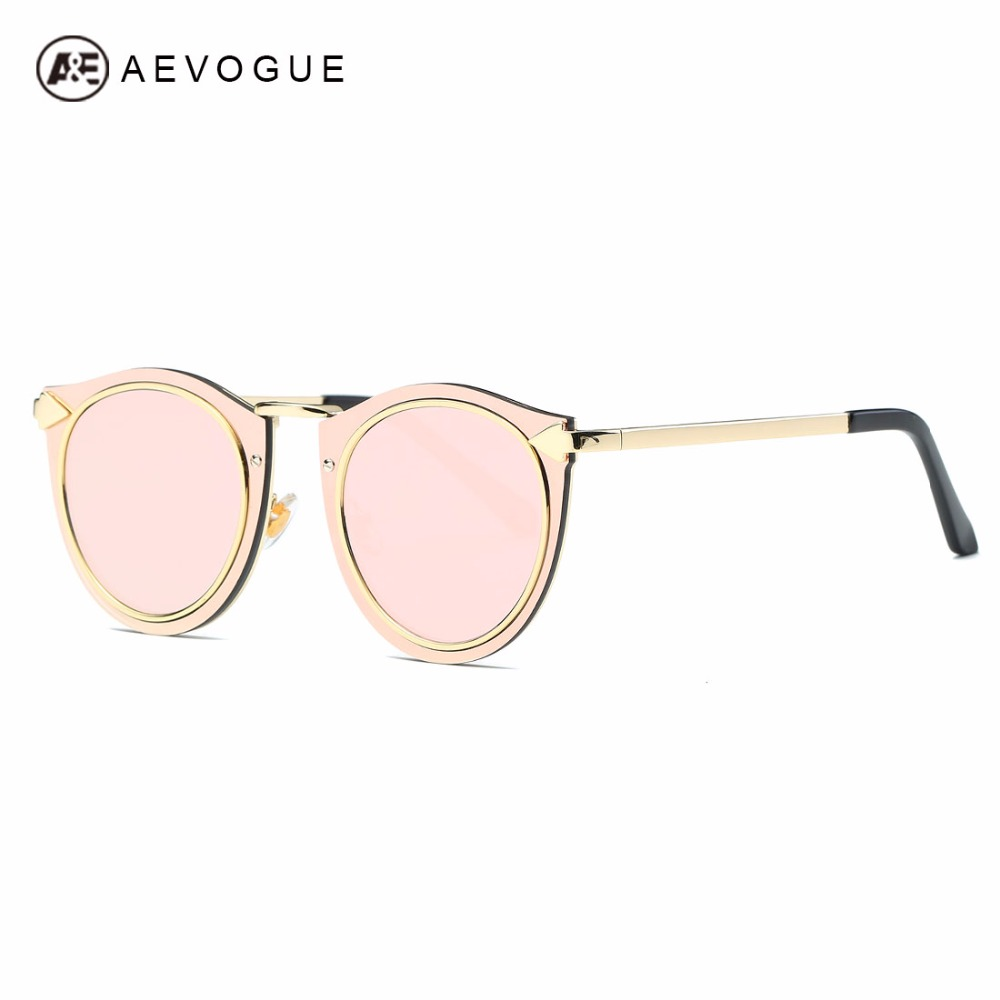 AEVOGUE Sunglasses Womens Metal Frame 클래식 레트로 화살표 장식 브랜드 디자이너 Steampunk Sun Glasses UV400 AE0505
