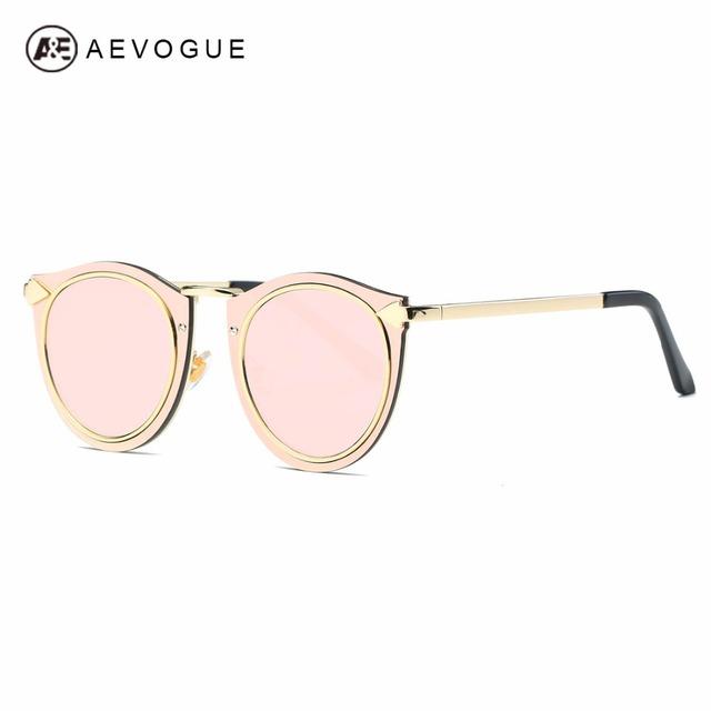 Aevogue óculos de sol das mulheres de metal clássico quadro setas retro decorado marca designer steampunk óculos de sol uv400 ae0505