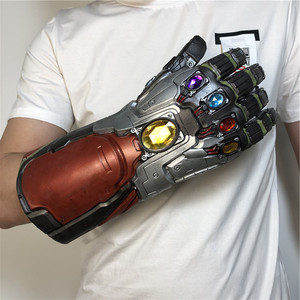 Image 5 - 1:1 War Gauntlet Iron Man Red Ver. Action Figure LED Light Cosplay Thanos Gloves Prop Kid Gift
