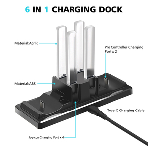 Image 3 - 6 in 1 Charging Dock Station Controller Charging Holder Stand LED Indicator for Nintend Switch Joy con Pro Controller Charger