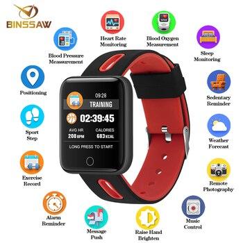 BINSSAW 2019 Smart Watch Men Women Wristwatch Sport Fitness tracker Pedometer Heart Rate Blood Pressure Watches LED Smartwatch