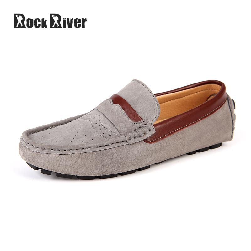 Hot Sale 2017 Cow Suede Men Shoes Slip-on Luxury Brand Loafers Genuine Leather Shoes Men Moccasins Mens Shoes Casual dxkzmcm new men flats cow genuine leather slip on casual shoes men loafers moccasins sapatos men oxfords