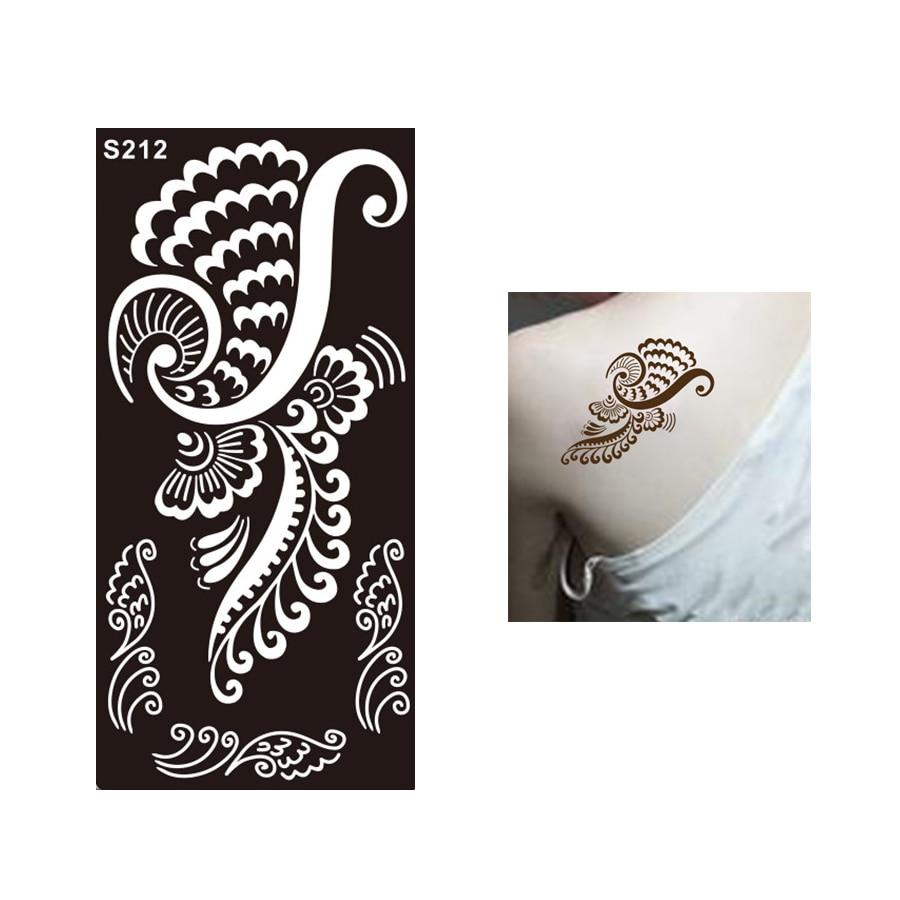 ୧ʕ ʔ୨1 Arkusz Klasyczne Szablon Tatuaż Henna Kobiety Body Art