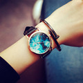 MILER New Fashion Elegant Watch Women Leather Strap Color Star Sky Casual Wristwatch Ladies Dress Quartz Watch relogio feminino