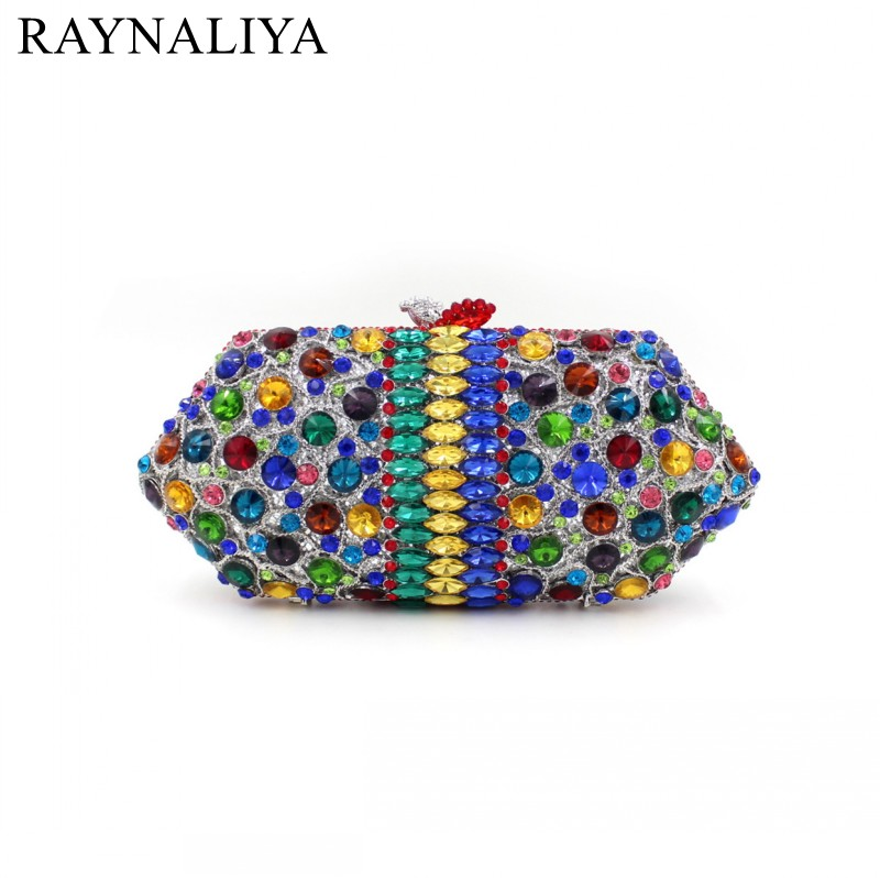 New Women Handmade Prom Clutch Evening Bag Luxury Party Bags Lady Crystal Minaudiere Diamonds Day Clutches Smyzh-e0067 women luxury rhinestone clutch beading evening bags ladies crystal wedding purses party bag diamonds minaudiere smyzh e0193 page 8