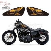 Chama Águia Gráficos Decalques Adesivos Do Tanque de Combustível Para Harley Sportster XL 883 1200 X/V/R/N/L/C XR1200 Ferro Quarenta E Oito Setenta E Dois