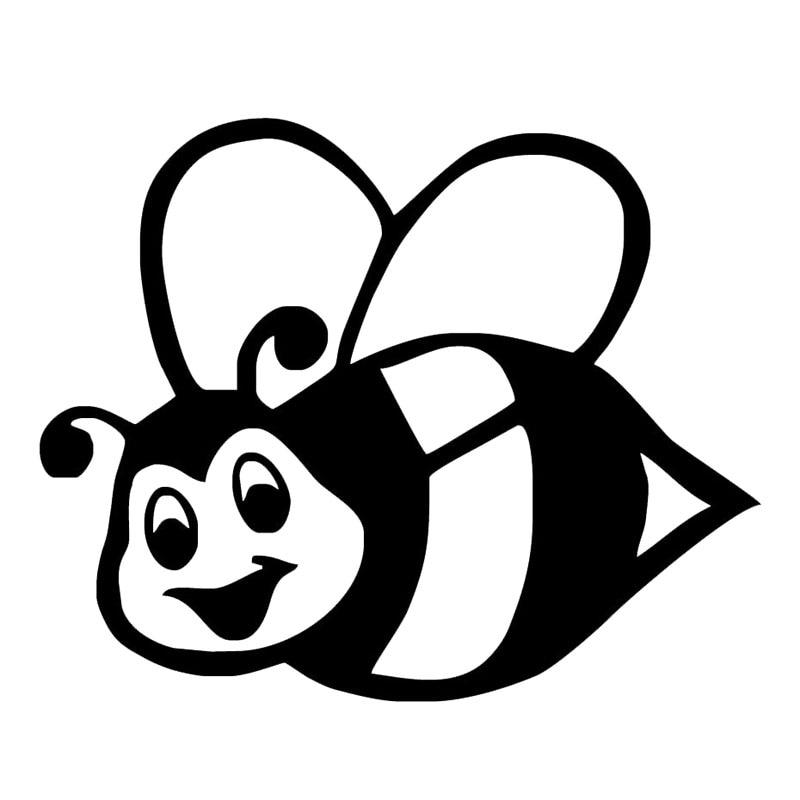 12.5*10.2CM Bumble Bee Vinyl Car Stickers Individual
