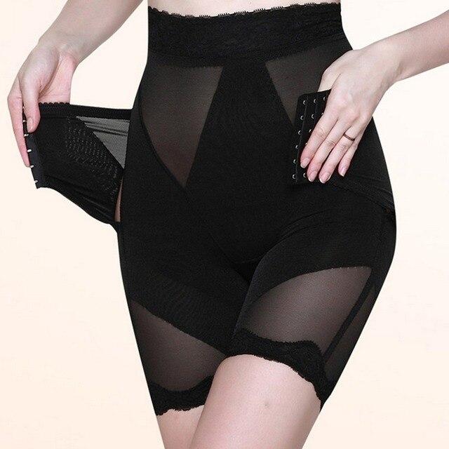 Похудения нижнее белье управления трико-24pcs трусики пластика управления лифт бедра талии брюки Cincher с кружевом