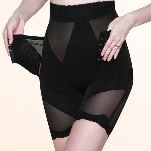 Ropa interior que adelgaza los pantalones de Control body Panties Control de abdomen caderas de elevación de los pantalones faja de cintura con cordón