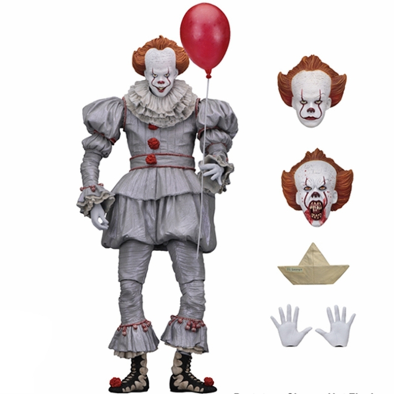 NECA Stephen del Re Si Pennywise Joker Action Figure Giocattoli Bambole Brinquedos Figurals Modello di Raccolta Regalo neca original stephen king s it pennywise joker clown bjd action figure toys dolls 18cm