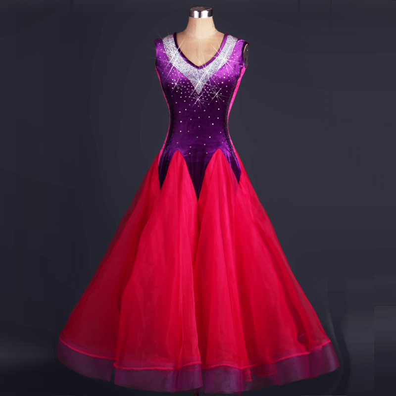 kids competition standard dance dress Tango standard waltz flamenco purple red sexy dresses children girls adult skirts kleed