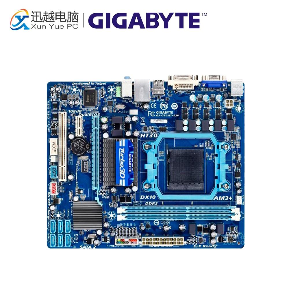 Gigabyte GA-78LMT-S2P Desktop Motherboard 78LMT-S2 760G Socket AM3 DDR3 SATA2 USB2.0 Micro ATX gigabyte ga g41mt s2p desktop motherboard g41mt s2p g41 lga 775 ddr3 8g sata2 usb2 0 micro atx