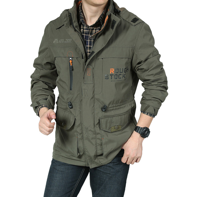 ФОТО Free Postage Outdoor Loose Men Jacket Long New 2016 100 Nature Cotton Warm Autumn and Winter Mens Coats