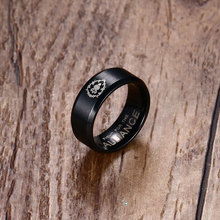 World of Warcraft Horde Alliance Black Gold Ring