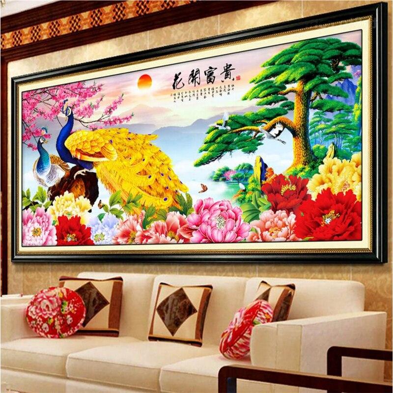 US $8.25 45% OFF|Beibehang Chinesischen Pfau Fototapete 3D Wandbild Tapete  für Wohnzimmer Schlafzimmer Sofa Hintergrund Wandmalereien tapeten ...