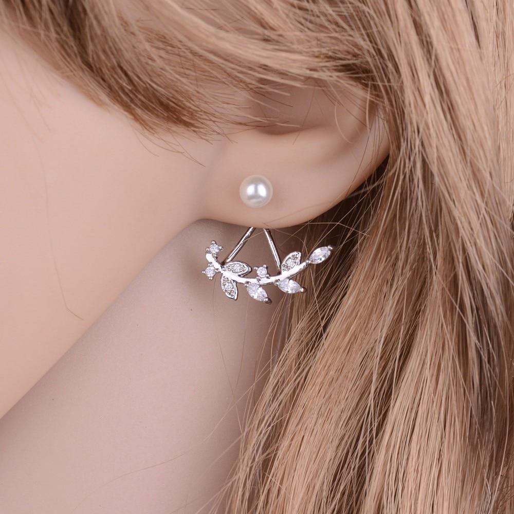 Myelo Trendy Double Sides Women 925 Sterling Silver Wedding Earrings ...