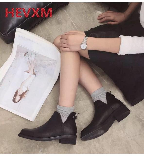 HEVXM 2017 Осень и зима новый V рот сапоги с толстой рыцарь в тур с Мартин сапоги и голые женщины сапоги ботинки женщина