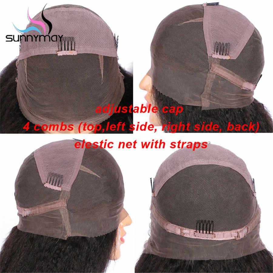 Sunnymay предварительно сорвал полное кружева парики человеческих волос 130% Glueless фигурные парики бразильский Волосы remy Full Lace обесцвеченные парики вида шишка-пучок