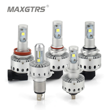 2x CREE CHIP XHP50 Car Headlights H4 H7 LED H8/H11 HB3/9005 HB4/9006 8000lm Auto Front Bulb Automobile Headlamp 6000K Lighting