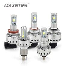2x chip cree XHP50 reflektory samochodowe H4 H7 LED H8/H11 HB3/9005 HB4/9006 8000lm przednia żarówka samochodowa reflektor samochodowy 6000K oświetlenie