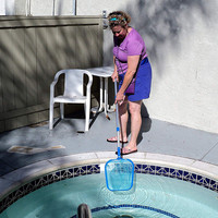 Professional Leaf Rake Mesh Frame Net Skimmer Cleaner Swimming Pool Tool Fits 2cm diameter poles new A30