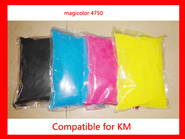 Compatible Konica Minolta Magicolor 4750 c4750 color toner powder Free shipping High quality 1kgx4bags kcmy color toner powder compatible for konica minolta magicolor 2300 2300w 2350 2350en refill color toner