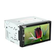 7 «universel 2 Din HD Écran Tactile Lecteur DVD De Voiture Bluetooth USB/TF FM Aux Radio Multimédia Directeur du lecteur contrôle de roue