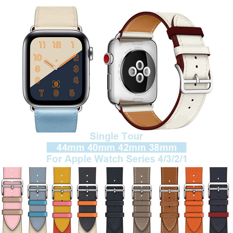 Hot Selling Leather Single Tour Band For Apple Watch 4/5 44mm 40m Wrist Bracelet Strap For IWatch Series 3/2 42mm 38mm Watchband
