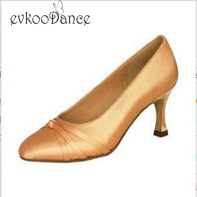 New Style Zapatos De Baile Khaki Brown Black With Gold Black Salsa Satin Heel  Height 7cm 3544801bc0b9