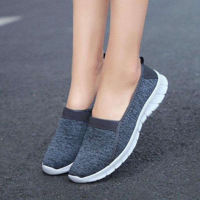 87451fb0156f41 Women Lazy Shoes 2018 New Female Shoes Woman Summer Wedge Comfortable  Sandals Ladies Slip-on Flat Sandals Women Sandalias