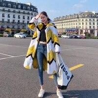 2018 New Plush Faux Mink Fur Coat M2