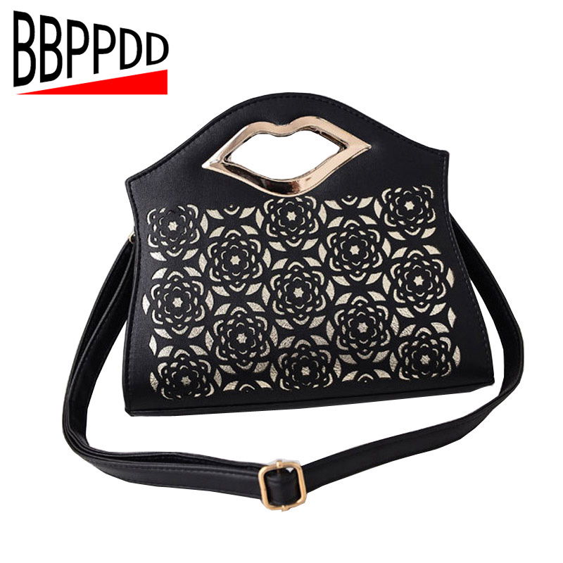 Women Clutch Handbag New 2018 Women PU Leather bags Bag Female Fashion Hollow out Portable Women's one shoulder Cross-body Bag