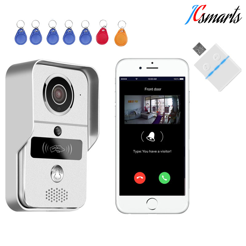 KNOX KW02C video peephole door camera wireless digital video camera melody doorbell RFID intercom motion detection WiFi system d114b smart home 1v2 wireless intercom one to two video door phone 2 4g digital pir detection video door peephole camera