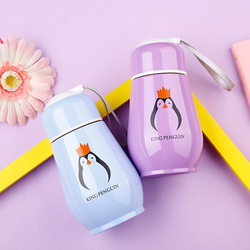 Korean Penguin Vacuum Cup Water Bottle Mug Coffee Tea stainless steel Thermos Food Jar Thermal Container Insulated Soup Holder thermos fdh 2005 mtb vacuum inculated bottle