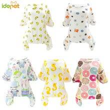 Милые маленькие собаки пижамы для домашних любимцев собак кошек одежда комбинезон для щенка для собаки пальто для чихуахуа померанских собак Одежда с принтом рубашка